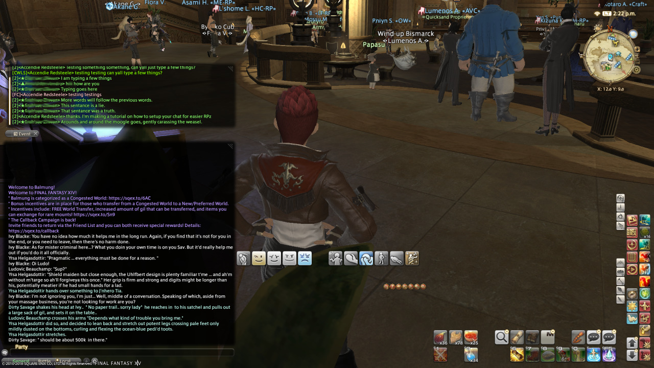 FFXIV RP Tip: Adjusting Your Chatboxes – FFXIV-RP Guides